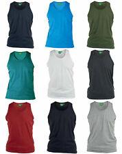 Mens DUKE D555 Wallace Vest Sleeveless T shirt Tank Top Vests Summer 3XL-6XL