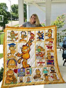 GARFIELD Funny Version 1 Quilt, Fleece blanket Printing in US