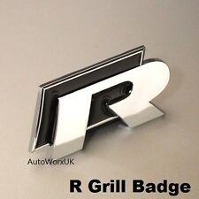 NUOVO VW R GRILL Badge Emblema Decalcomania Logo GRIGLIA GOLF POLO SCIROCCO linea R20 NERO