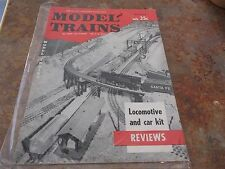 Vintage Model Trains magazine catalogue Model Railroading Made Easy March 1958