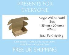 50 X Cartón Postal Moving cajas de almacenaje de 155 mm X 90mm X 60 Mm