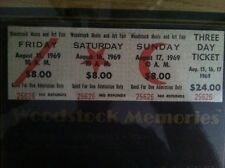 1969 Woodstock 3 Day Ticket Mint Nostalga Collector's Item Sotheby's Certified