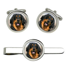 Hovawart Dog Cufflinks and Tie Clip Set