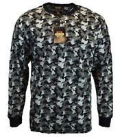 Mens Henley Long Sleeve Tee T Shirt Crew Neck Camo Military Army Guide Gear NEW