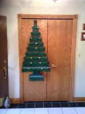 Vintage Handmade In Germany Woven Christmas Tree Wall Hanging 55 Inches