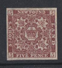 NEWFOUNDLAND 1857-64 5d BROWN-PURPLE SG 5 MINT.