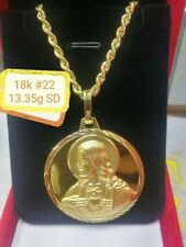 GoldNMore: 18K Gold Necklace And Pendant 22 inches OTPTFG
