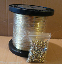 500g soft brass wire 0.457 + 200 eyelets Rabbit Snare Wire