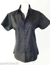 NewYorker SMOG Hemd-Bluse, Gr. M/38, tailliert, Schwarz gestreift, Kurzarm