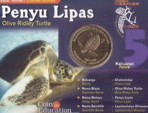 MALAYSIA 25 SEN UNC COIN 2006 YEAR KM#101 OLIVE RIDLEY TURTLE