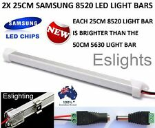 2X 25CM 8520 LED STRIP LIGHT BAR 12V DC CAMPING CARAVAN CAMPING 4WD UTE AWNING