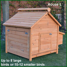 CHICKEN COOP RUN HEN HOUSE POULTRY ARK HOME NEST BOX COUP COOPS RABBIT HUTCH +