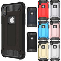 Hybrid Rubber Heavy Duty Hard Cover For iPhone X XS Max XR 8 7 6 6s plus SE Case