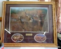 Hayden Lambson MOMENTARY PAUSE Deer Print Sign Number LE 417/5500 REDUCED!