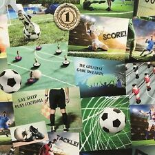 FOOTBALL COLLAGE WALLPAPER - FINE DECOR FD41915 SOCCER
