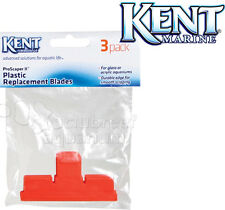Kent Marine Pro Scraper II 3 Pack Replacement Blades Plastic/Acrylic Aquarium