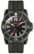 Lum-Tec Watch 300M-2 40mm Automatic Mens Diver Black PVD Stainless Steel Rubber