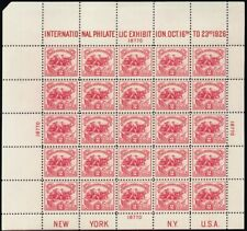 630, VF NH White Plains Souvenir Sheet of 25 Stamps Cat $600.00 * Stuart Katz