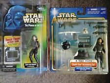 Star wars power of the force action figure lot. Death Star Trooper / accessories