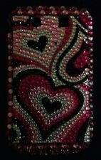 blackberry 9800 mobile phone cover hard with colourful glass beads