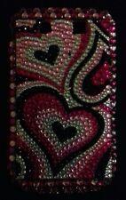 BLACKBERRY 9800 cover telefono cellulare duro con perline vetro colorato