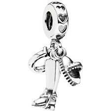 Authentic Pandora Charm Sterling Silver 791265 Equestrian Dangle