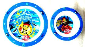 Boys Jake & The Neverland Pirates  2 Piece Mealtime  Set New 12 Mths +