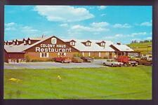WILLIAMSBURG IOWA IA St. Colony Haus Restaurant Cars Vintage Postcard