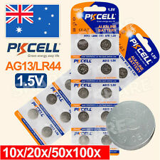 AG13 LR44 A76 1.5V Alkaline Battery Button cell PKcell upto 100pcs AU Stock