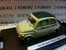 Voiture 1/43 BRUMM Déagostini : FIAT 500 Abarth record 1958