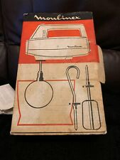 Vintage Moulinex Electric Beater 3 Speed Boxed