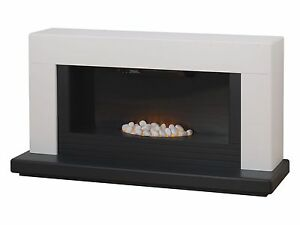 Senso Fireplaces DSV Fireplace Suite in White & Oak with Electric Fire,48 Inch