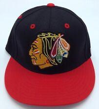 NHL Chicago Blackhawks CCM Adult Flex Fit Structured Flat Brim Cap Hat NEW!