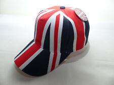 Neue Union Jack London Cap Mütze Kappe Einheitsgröße Great Britain Flagge