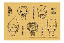 SPOOKTACULAR-The Greeting Farm Rubber Stamp-Stamping Craft-Anya/Ian-RETIRED