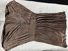 H&M Kleid taupe schimmernd superweich 100% Viskose  ca. Gr. 38