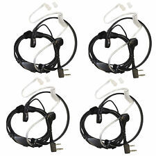 4x HQRP Headset PTT Throat Mic for Baofeng BF-888 BF-888S BF-999 BF-999S Radio