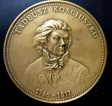 POLISH / BRONZE MEDAL / Tadeusz Kościuszko / American Revolutionary War / N112