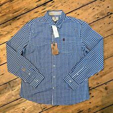 BNWT Men's TIMBERLAND Blue Check Shirt Size XL