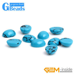 Blue Turquoise Stone CAB Cabochon Oval Beads For Jewelry Ring Charm Making 5Pcs