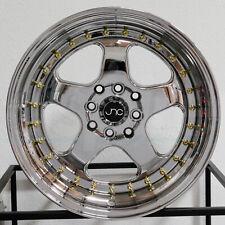 """4-New 15"""" JNC 010 Wheels 15x9 4x100/4x114.3 20 Platinum GR Rims"""