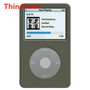 THIN New Gray Silicone Skin Cover Case for iPod Classic 7th 160GB 6th 80GB 120GB