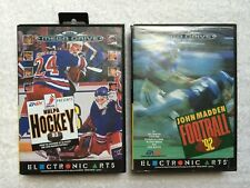 NHLPA HOCKEY 93 & JOHN MADDEN FOOTBALL 92 - Sega Megadrive - BOXED+ INSTRUCTIONS