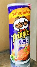New Pringles Potato Crisps chips Tom Yum Song Kreung Thai Snack Flavor 107 gm.
