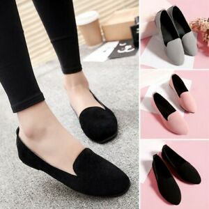 Womens Ballet Shoes Pointed Toe Classic Slip On Ballerina Flats Shoes One Pair
