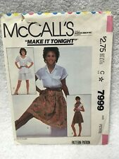 McCall's 7999 Misses & Young Junior Teen Skirts Small Sewing Pattern