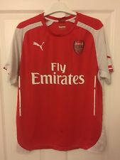 2014/2015 Arsenal home football shirt Puma Fly Emirates Gunners large men's