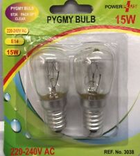2X 15 W CLEAR PYGMY LAMP BULB SCREW E14 220-240V AC ST26