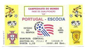 1983 World Cup Qualifier ticket - Portugal vs. Scotland - 4/28/83.