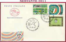ITALIA FDC CAVALLINO CAMPIONATO ITALIANO CALCIO SERIE A 1991 '92 CREMONA T764